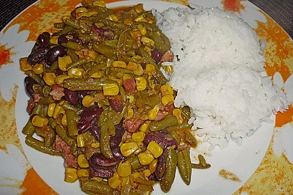 Mais - Bohnen - Pfanne