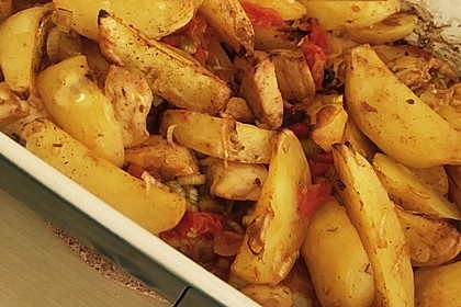 Hähnchenbrustfilet mit Country-Kartoffeln 26
