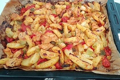Hähnchenbrustfilet mit Country-Kartoffeln 75