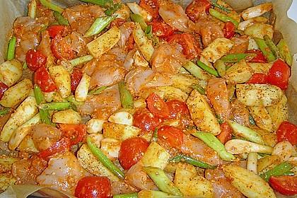 Hähnchenbrustfilet mit Country-Kartoffeln 45