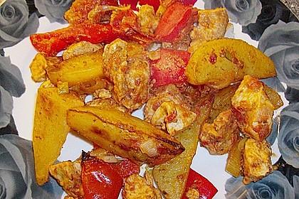Hähnchenbrustfilet mit Country-Kartoffeln 55