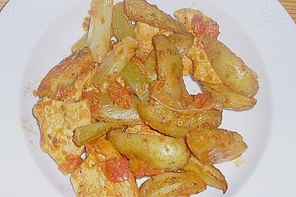 Hähnchenbrustfilet mit Country-Kartoffeln 105