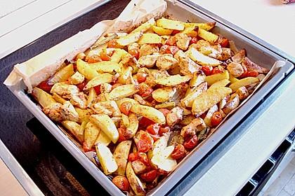 Hähnchenbrustfilet mit Country-Kartoffeln 96