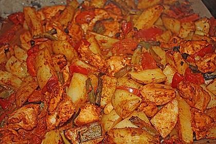 Hähnchenbrustfilet mit Country-Kartoffeln 61