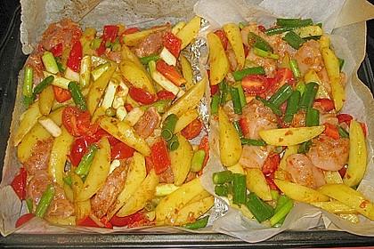 Hähnchenbrustfilet mit Country-Kartoffeln 60