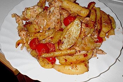 Hähnchenbrustfilet mit Country-Kartoffeln 56