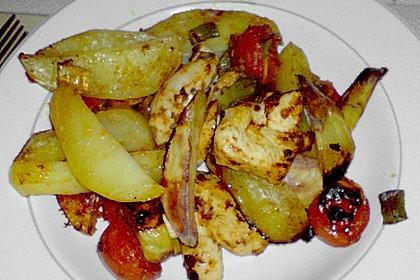 Hähnchenbrustfilet mit Country-Kartoffeln 102