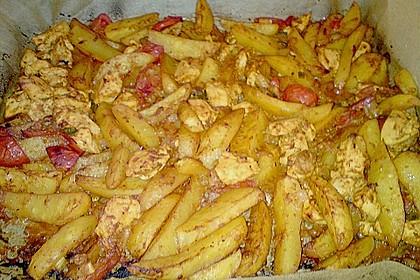 Hähnchenbrustfilet mit Country-Kartoffeln 115