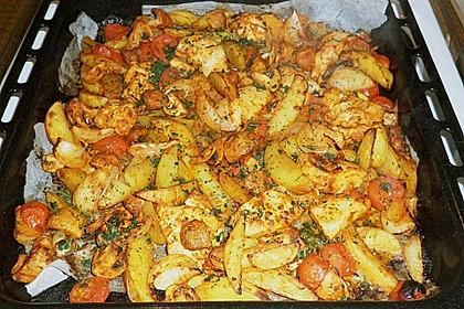 Hähnchenbrustfilet mit Country-Kartoffeln 64