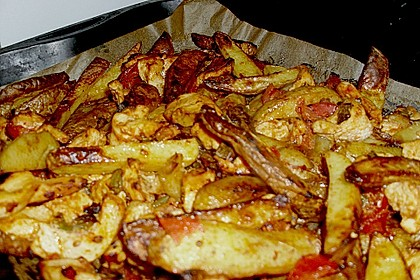 Hähnchenbrustfilet mit Country-Kartoffeln 104
