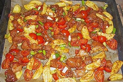 Hähnchenbrustfilet mit Country-Kartoffeln 62