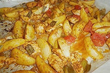Hähnchenbrustfilet mit Country-Kartoffeln 84