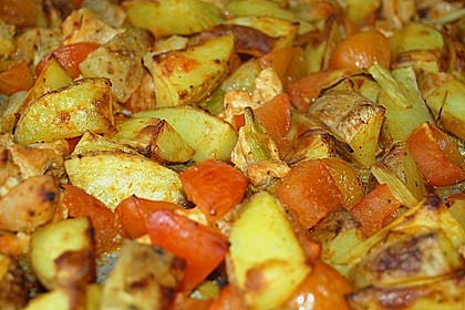 Hähnchenbrustfilet mit Country-Kartoffeln 71