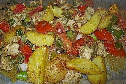 Hähnchenbrustfilet mit Country-Kartoffeln 54