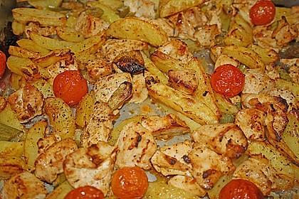 Hähnchenbrustfilet mit Country-Kartoffeln 22
