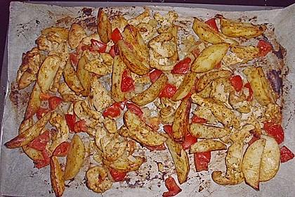 Hähnchenbrustfilet mit Country-Kartoffeln 97