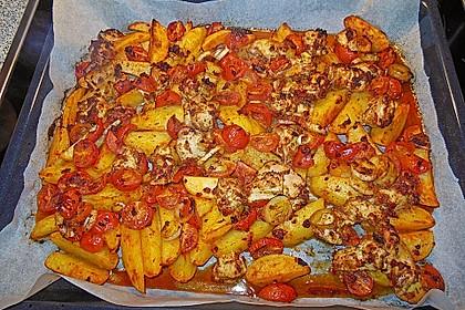Hähnchenbrustfilet mit Country-Kartoffeln 73