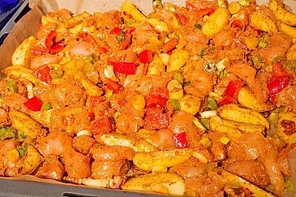 Hähnchenbrustfilet mit Country-Kartoffeln 91