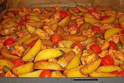 Hähnchenbrustfilet mit Country-Kartoffeln 23