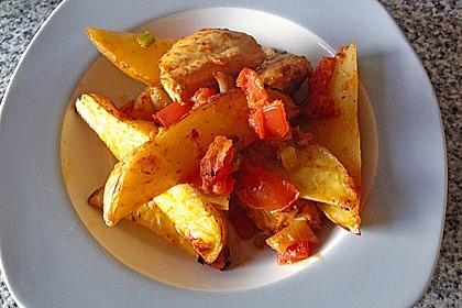 Hähnchenbrustfilet mit Country-Kartoffeln 40