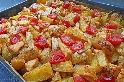 Hähnchenbrustfilet mit Country-Kartoffeln 0