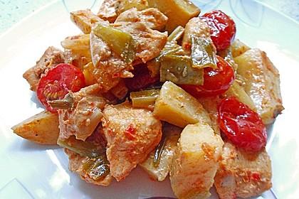 Hähnchenbrustfilet mit Country-Kartoffeln 52