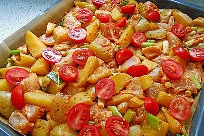 Hähnchenbrustfilet mit Country-Kartoffeln 5
