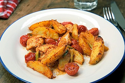Hähnchenbrustfilet mit Country-Kartoffeln 1