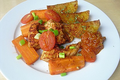 Hähnchenbrustfilet mit Country-Kartoffeln 19