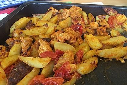 Hähnchenbrustfilet mit Country-Kartoffeln 42
