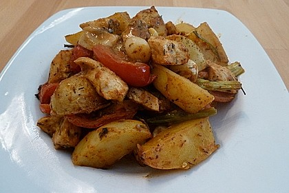 Hähnchenbrustfilet mit Country-Kartoffeln 18