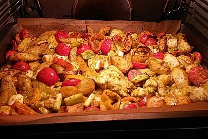 Hähnchenbrustfilet mit Country-Kartoffeln 15