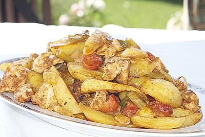 Hähnchenbrustfilet mit Country-Kartoffeln 9