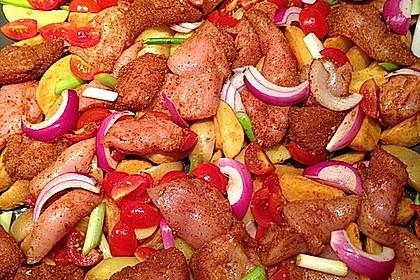 Hähnchenbrustfilet mit Country-Kartoffeln 12