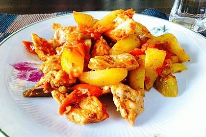 Hähnchenbrustfilet mit Country-Kartoffeln 10