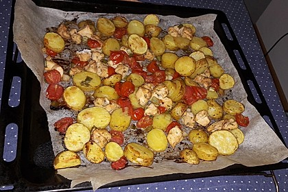 Hähnchenbrustfilet mit Country-Kartoffeln 74