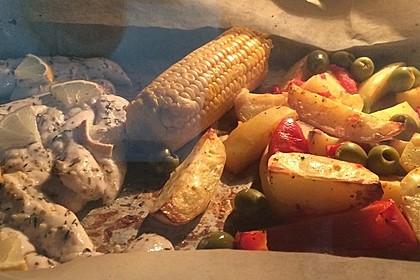 Hähnchenbrustfilet mit Country-Kartoffeln 7