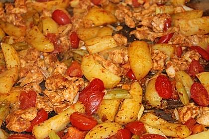 Hähnchenbrustfilet mit Country-Kartoffeln 6