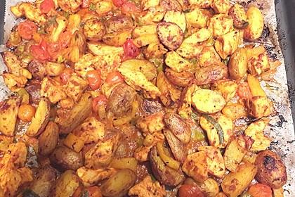Hähnchenbrustfilet mit Country-Kartoffeln 34