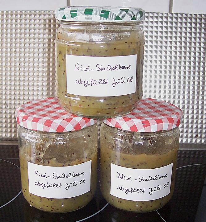kiwi stachelbeer marmelade rezept mit bild von. Black Bedroom Furniture Sets. Home Design Ideas
