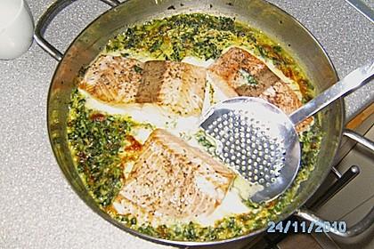 Lachsfilet auf Spinat und Mozzarella 4