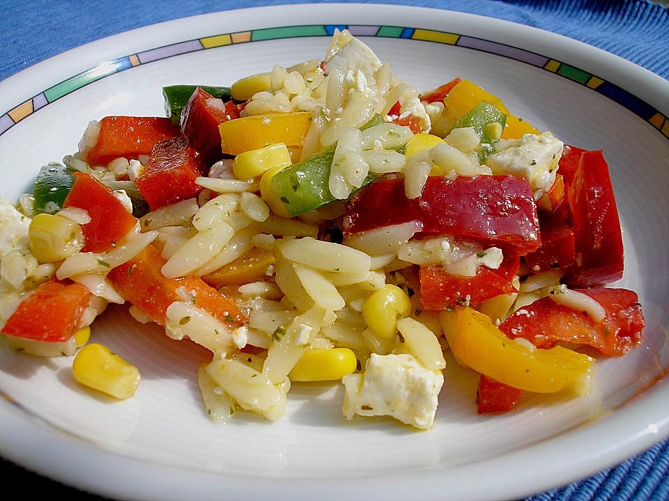schneller leichter nudelsalat rezept mit bild von