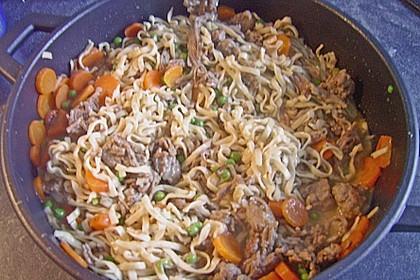 Curryrahmnudeln mit Asia - Touch 1