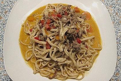 Curryrahmnudeln mit Asia - Touch