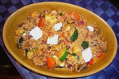 Bulgur - Gemüse - Pfanne 0