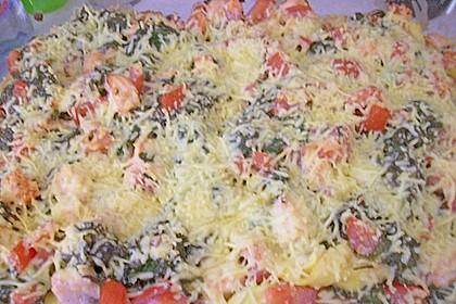 Tortellini gratiniert mit Lachs und Spinat 12