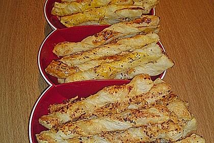 Blätterteig - Knusperstangen 4