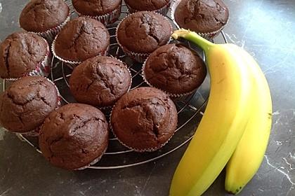 Schoko - Bananen - Muffins 36