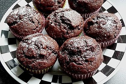saftige schokoladen muffins von heinols. Black Bedroom Furniture Sets. Home Design Ideas