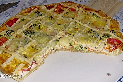 Gemüse - Quiche 4